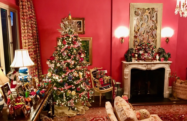 Inside Connie Anne Phillips' holiday party.