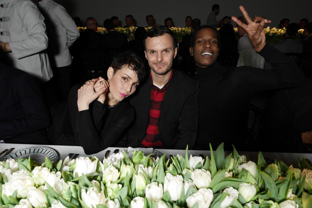 Noomi Rapace, Kris Van Assche and A$ap Rocky