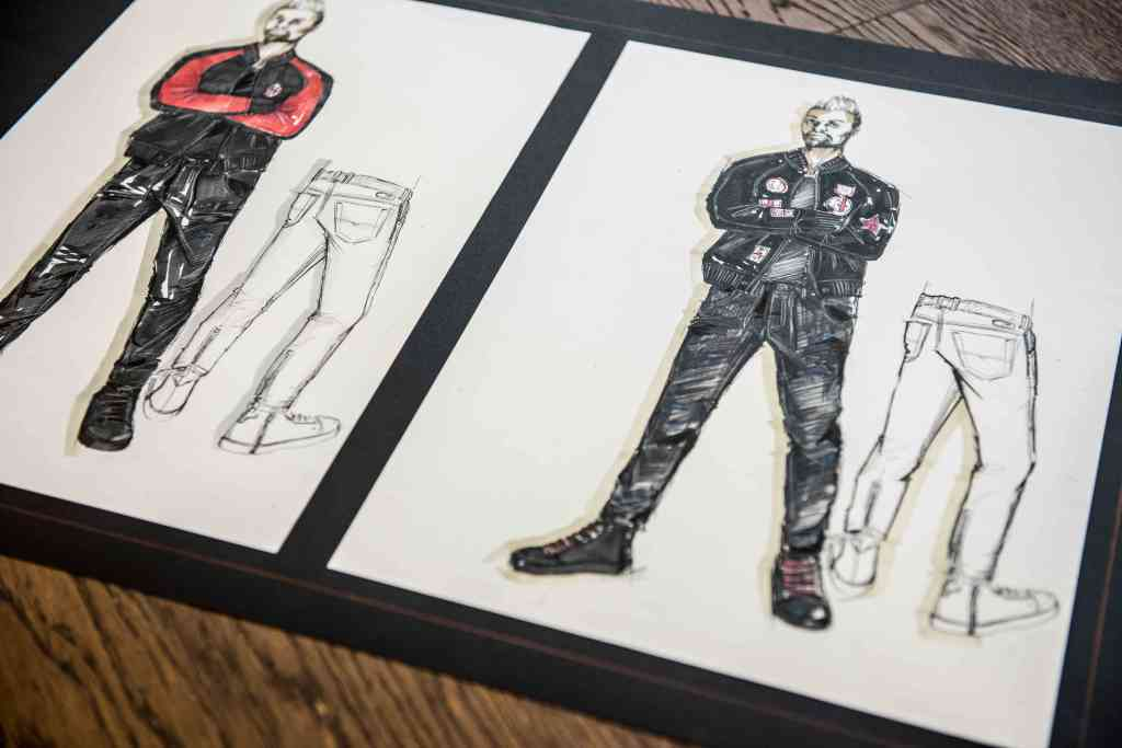 AC Milan uniform's sketches designed by Andrea Rosso.