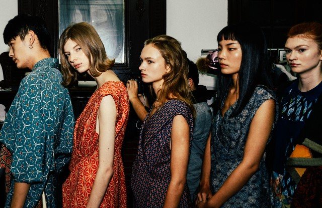 Looks from the first Reclothing Bank show. The line is designed by Zhang Na, perhaps best known for her main Fake Natoo.