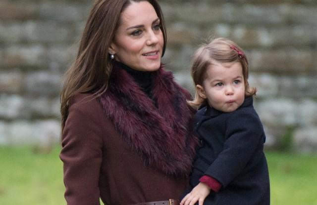 The Duchess of Cambridge Hobbs coat Princess Charlotte