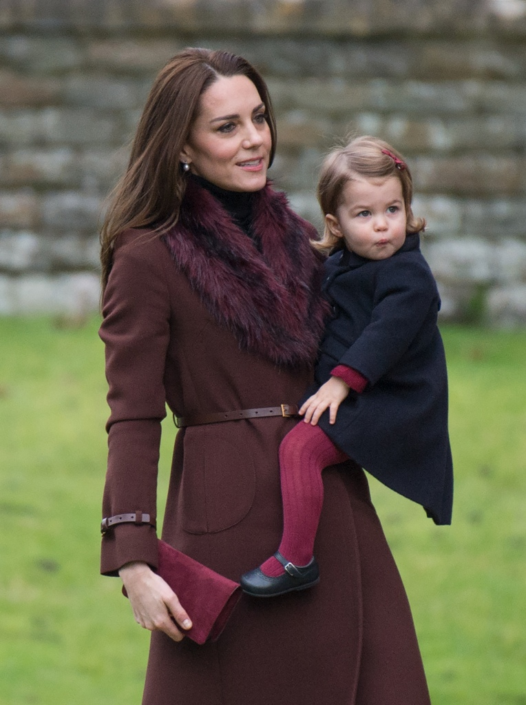 The Duchess of Cambridge Hobbs coat Princess Charlotte