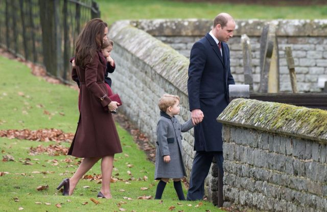 The young Royal couple attended Christmas church service in Englefield