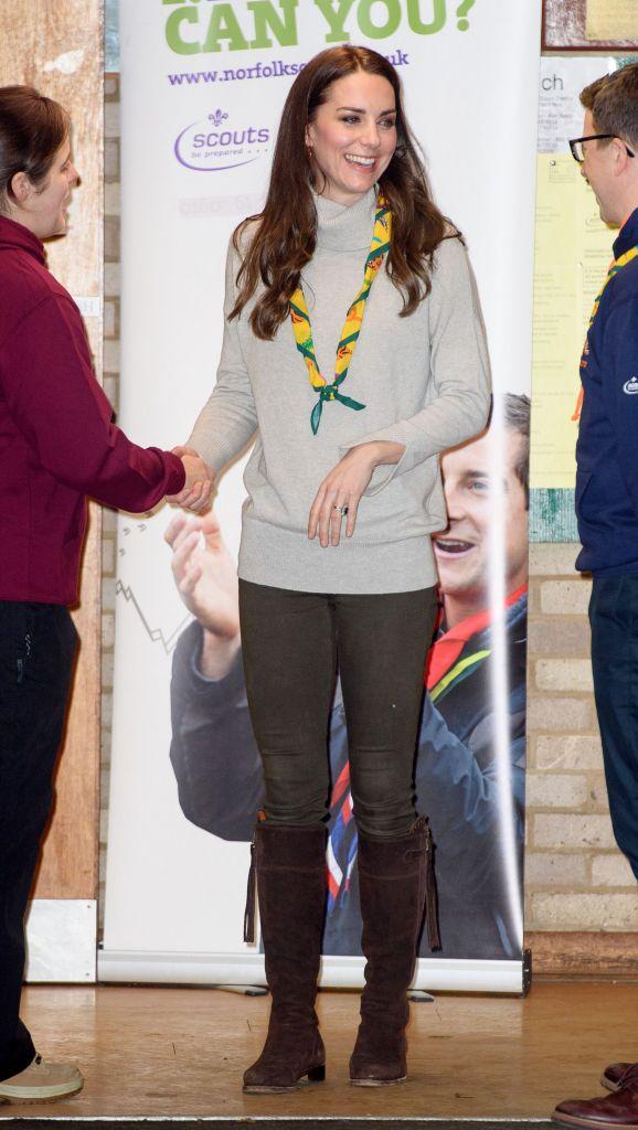 Duchess of Cambridge Kate Middleton Cub Scout