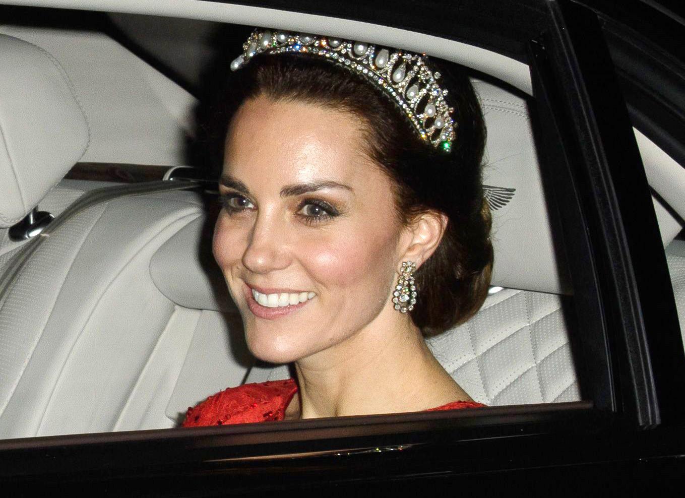 The Duchess of Cambridge in Jenny Packham