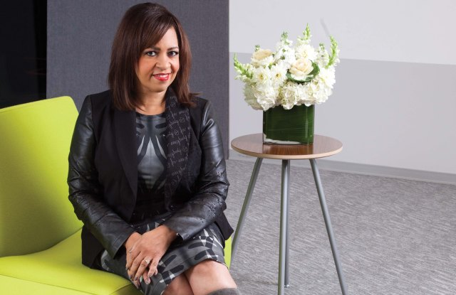 Sheryl Adkins-Green in Mary Kay's Dallas offices.