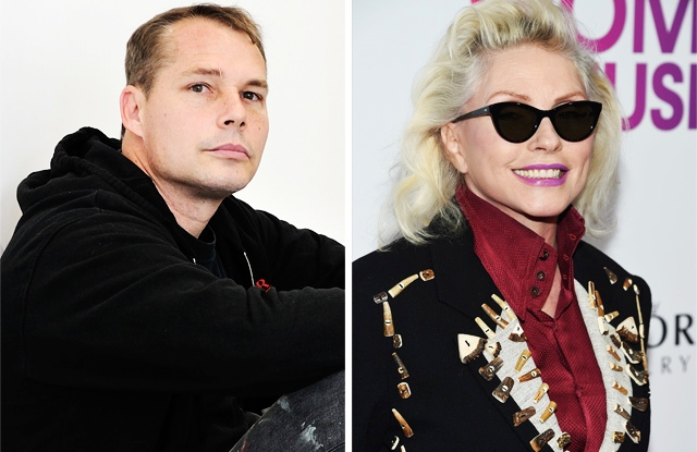 Shepard Fairey and Debbie Harry