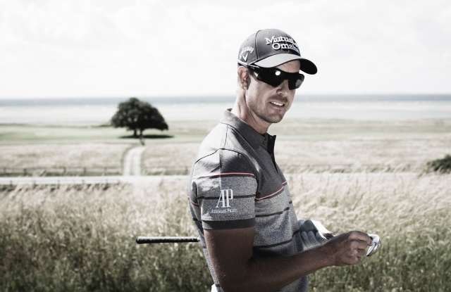 Henrik Stenson in a look from his new collection