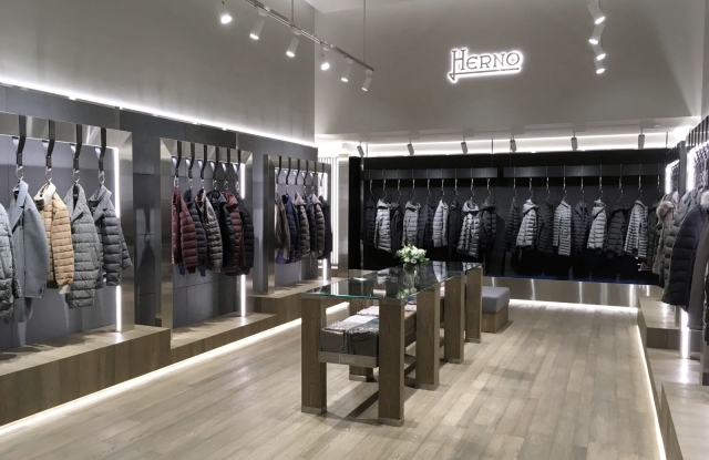 Herno's flagship store in Seoul.