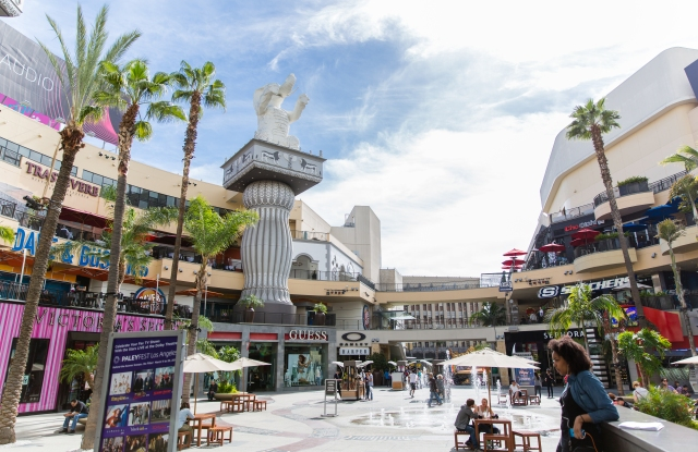 The Hollywood & Highland shopping center in Hollywood