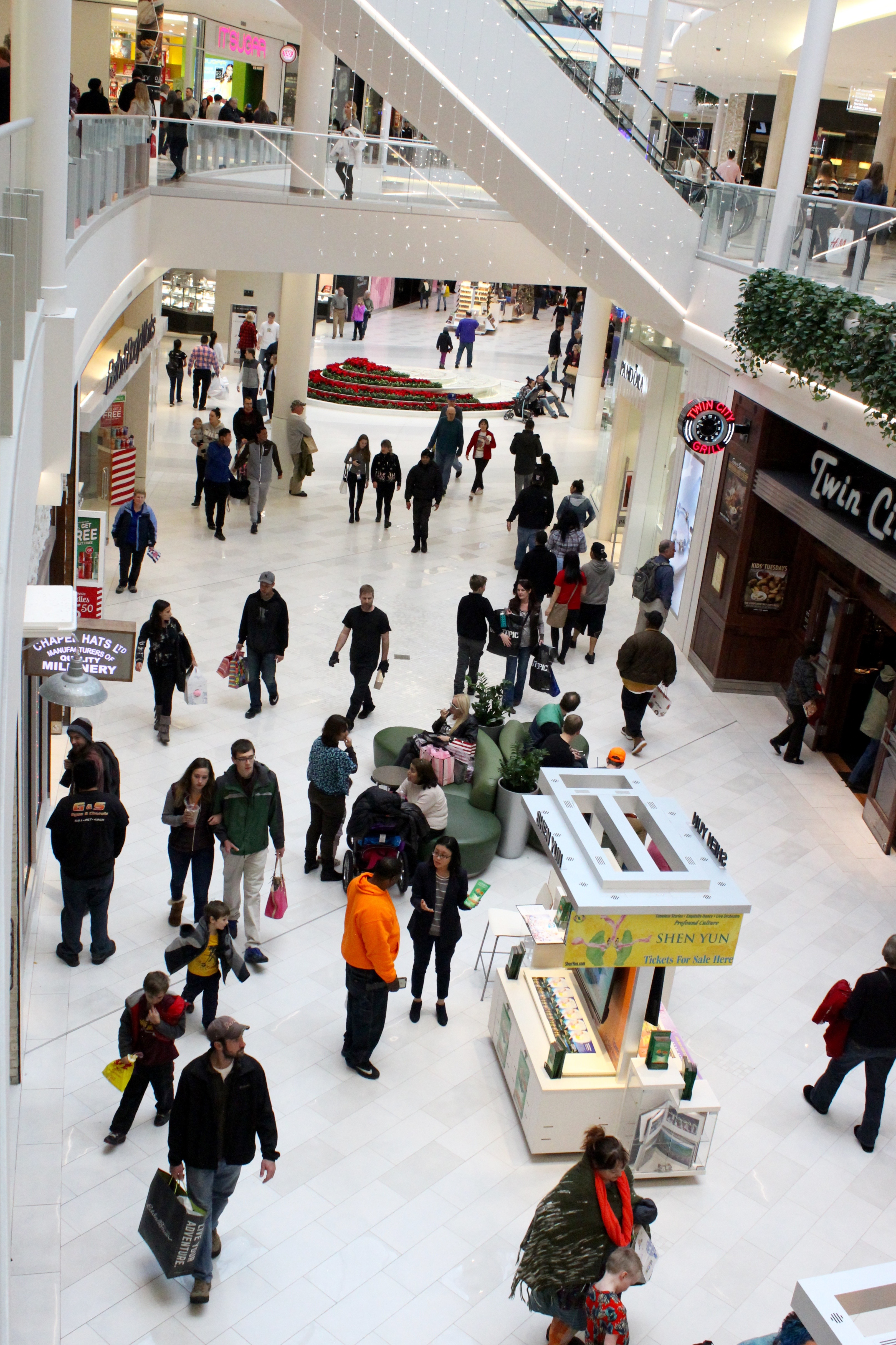 Holiday shoppers at the Mall of America.