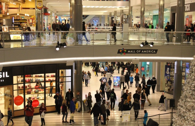 Holiday shoppers at the Mall of America on Friday.