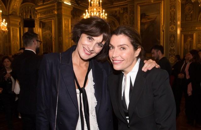 Inès de la Fressange and Daphné Roulier