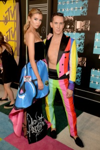 Jeremy Scott and stella Maxwell at 2015 MTV Video Music Awards