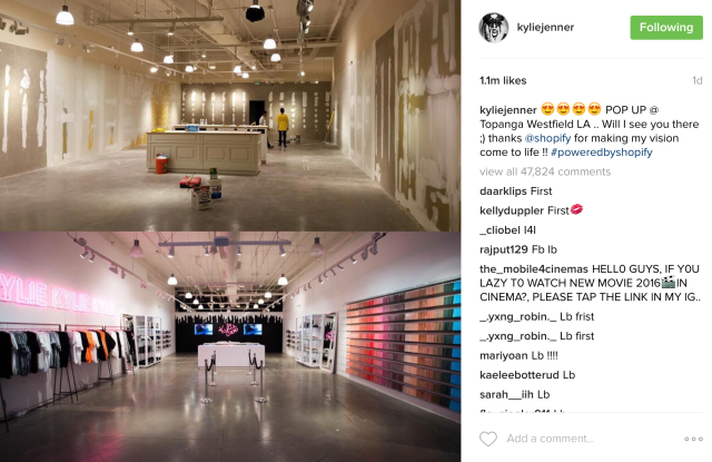 Kylie Cosmetics store opening