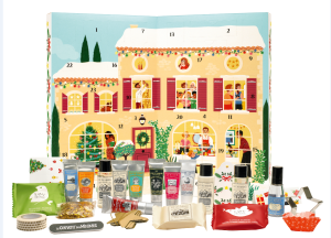 Couvent des Minimes' Advent calendar contains signature products plus beauty items from LØV Cosmetic.