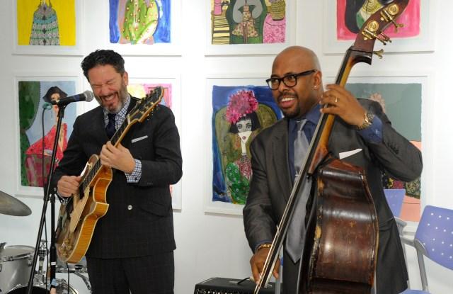 John Pizzarelli and Christian McBride  perform at Ralph Pucci.
