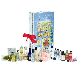 The Advent calendar from L'Occitane is chockablock with face and body-care products.