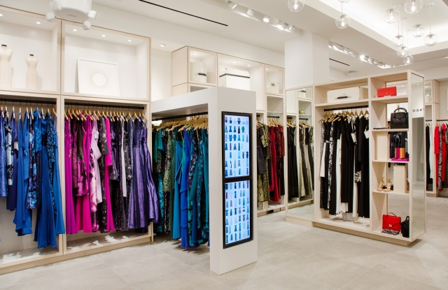 Inside Rent the Runway's flagship store in New York.