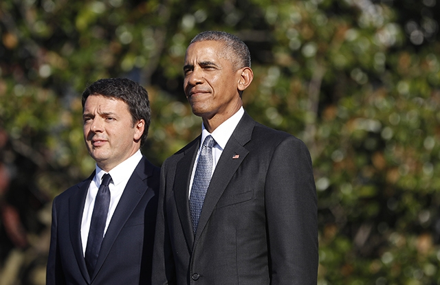 Matteo Renzi and President Obama