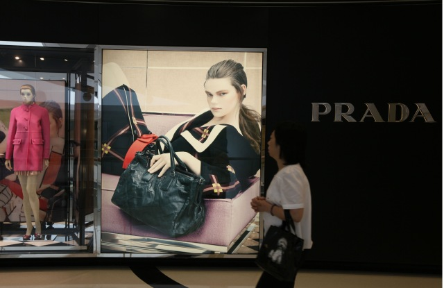 A Prada store in Hong Kong. The Italian label is shrinking its retail network in the city.