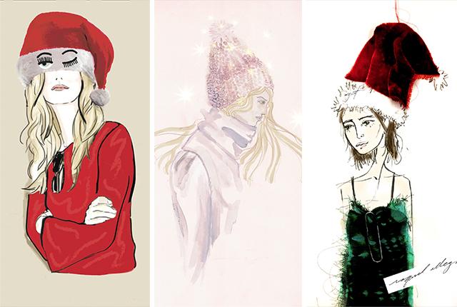 Designer Santa Hats