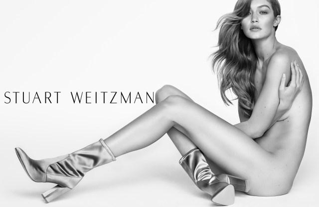 Gigi Hadid for Stuart Weitzman's spring 2017 campaign