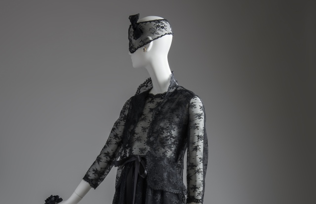 """Black Givenchy cocktail dress worn by Audrey Hepburn in """"How to Steal a Million"""" (1966)."""