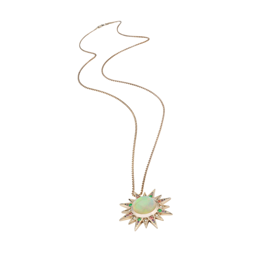 """A sun pendant from the new Venyx """"Elementa"""" collection"""