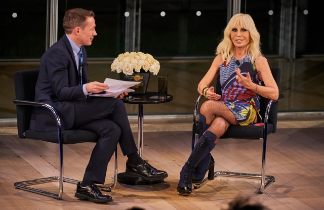 Donatella Versace and Eric Wilson at the Times Center.