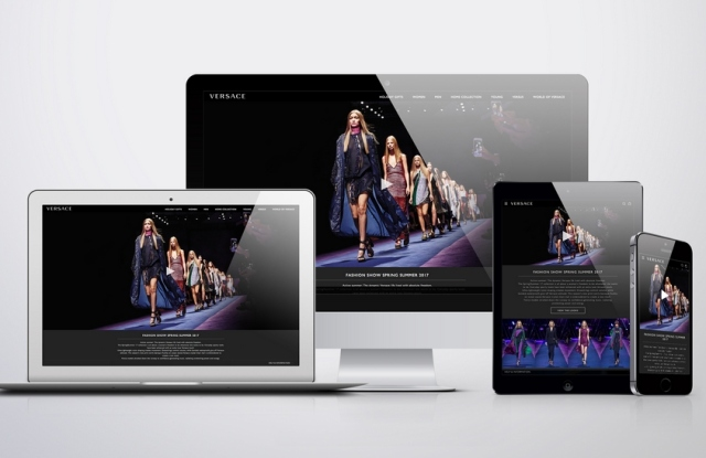 Versace's renovated web site.