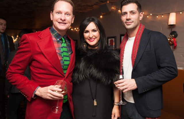 Carson Kressley and Luigi Bianchi with Laurie Aronson
