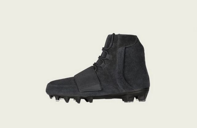 The Triple Black Yeezy cleat.