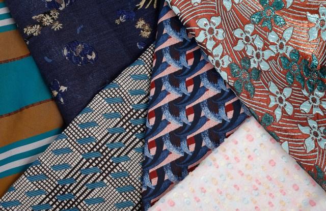 A selection of fabrics from Bonotto. Milano Unica