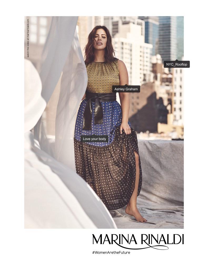 Ashley Graham in Marina Rinaldi's Spring Campaign