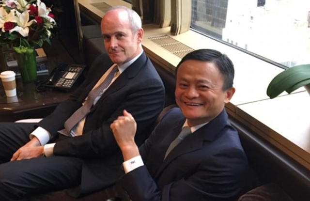 Alibaba's Jack Ma and Michael Evans met with Trump on Monday.