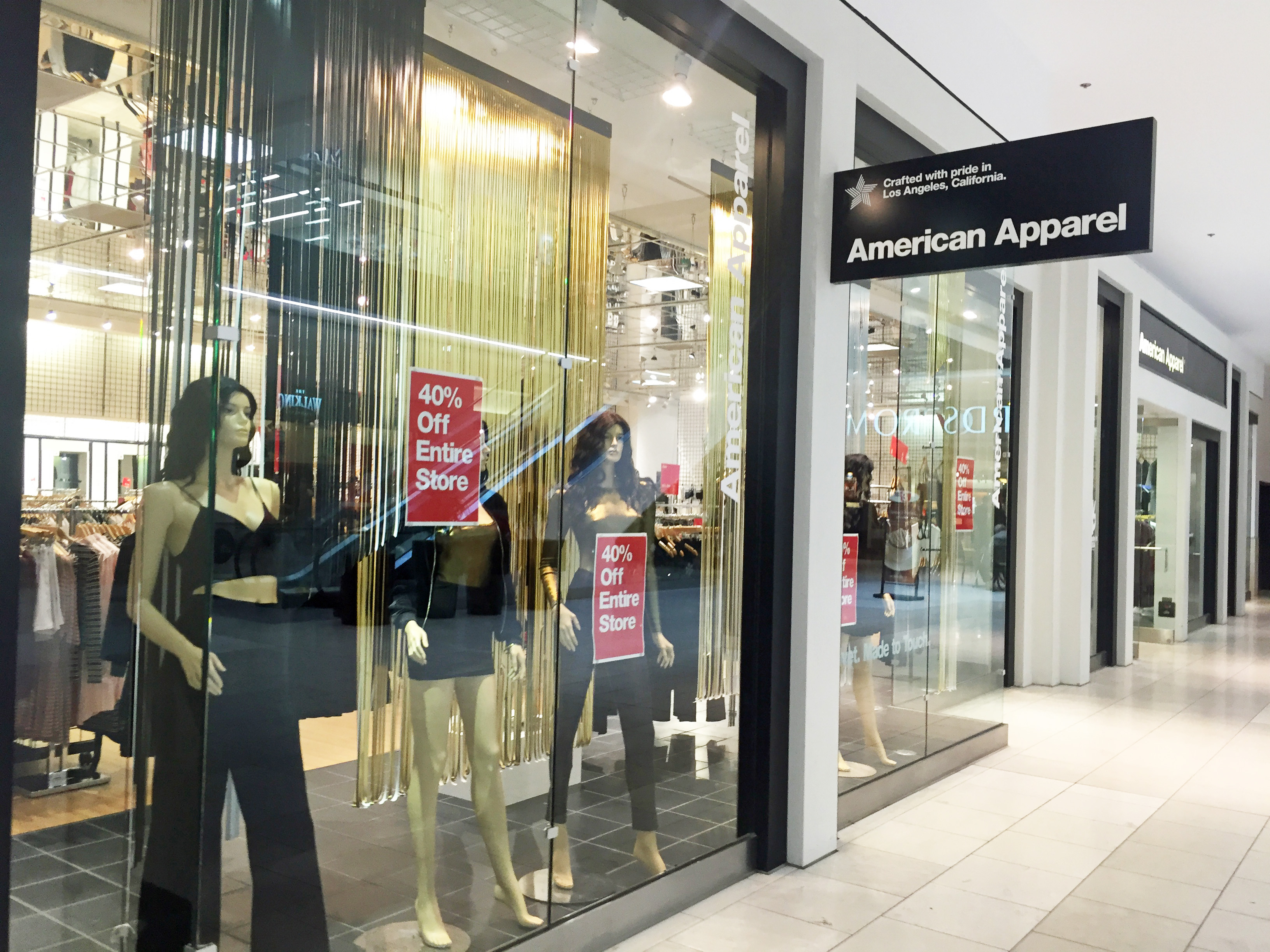 A bankruptcy court auction will determine the future of American Apparel's store base.