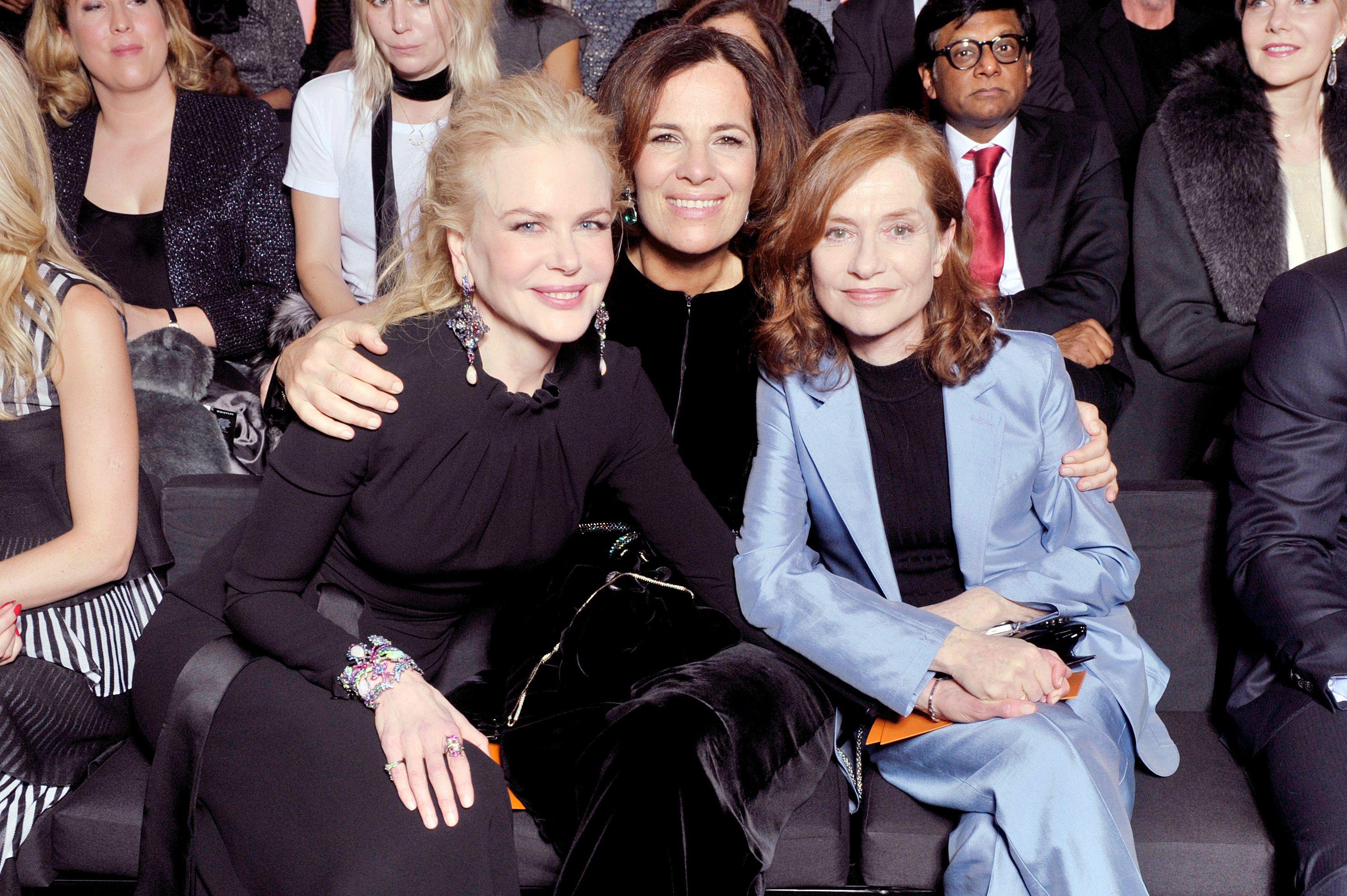 Nicole Kidman, Roberta Armani and Isabelle Huppert.