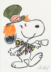Colleen Atwood sketch Snoopy as Mad Hatter