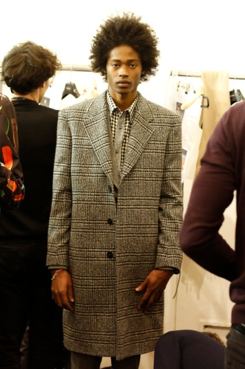 Backstage at Paul Smith Men's Fall 2017