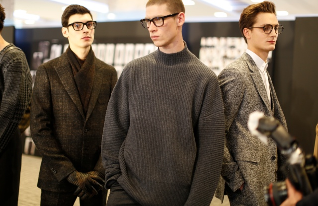 Backstage at Cerruti Men's Fall 2017