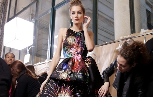 Backstage at Zuhair Murad Couture Spring 2017