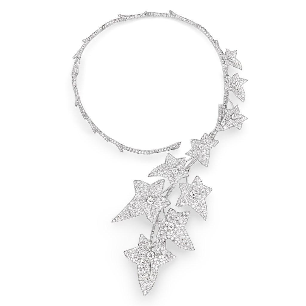 """Boucheron's """"Lierre de Paris"""" necklace in 18-carat white gold and diamonds."""