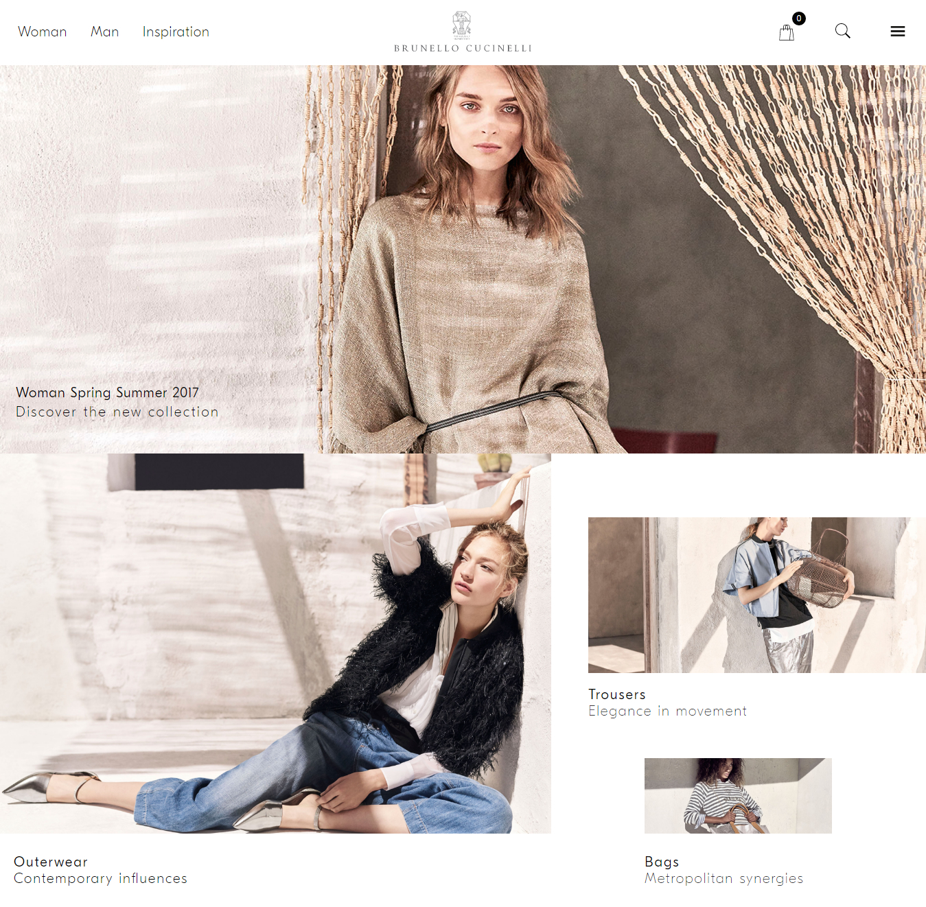 Brunello Cucinelli's e-commerce.