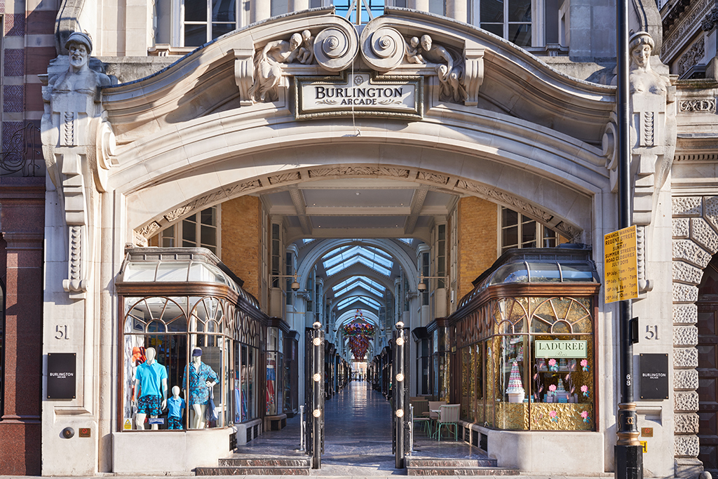 The Burlington Arcade in London