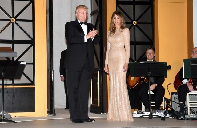 Donald & Melania Trump in Reem Acra.