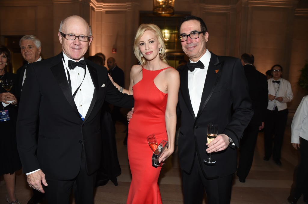 Woody Johnson, Louise Linton, and Steven Mnuchin
