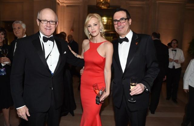 Woody Johnson, Louise Linton, and Steven Mnuchin
