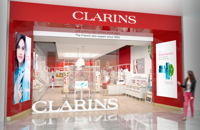 A Clarins store
