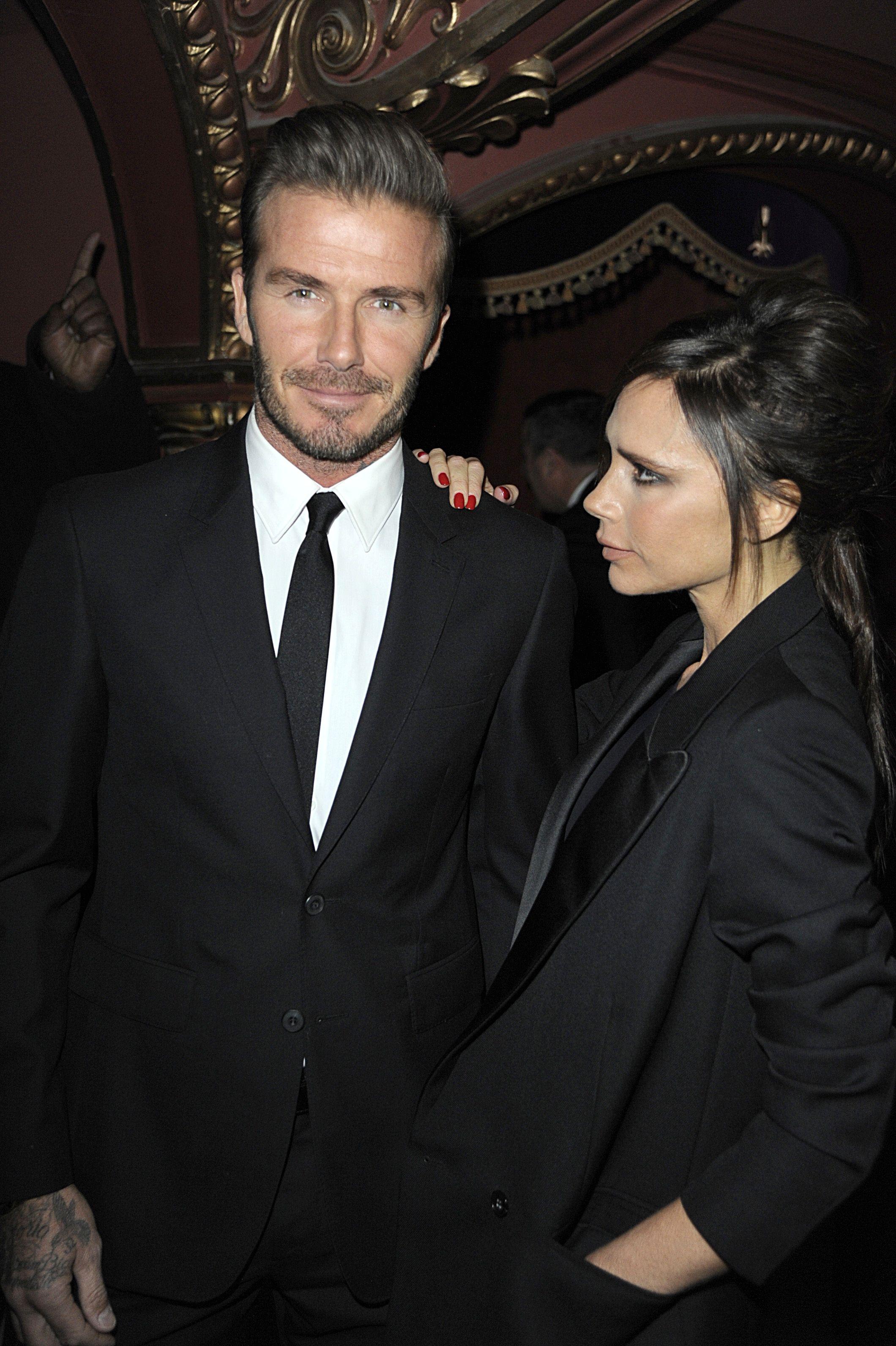 David and Victoria Beckham at the British Fashion Awards
